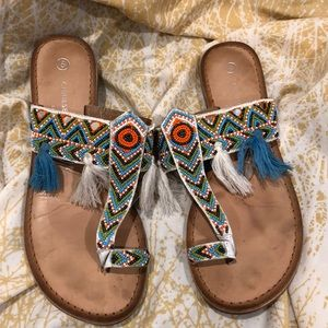Chinese Laundry beaded sandals Size 8